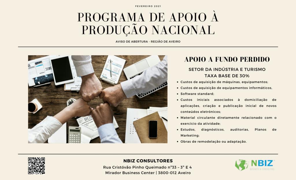 Programa de Apoio à Produção Nacional – Região de Aveiro